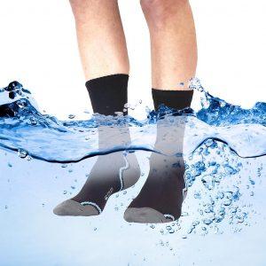 EDZ Waterproof Socks with Merino Lining Black